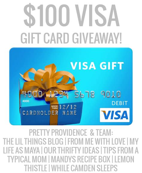 Visa Gift Card 100 - 100 visa gift card giveaway pretty providence team pretty providence
