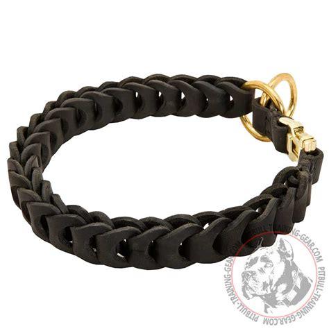 pitbull collars buy today choke leather pitbull collar braided collar