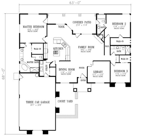 square feet measurement 480 square foot floor plan log mediterranean style house plan 3 beds 3 baths 2129 sq ft