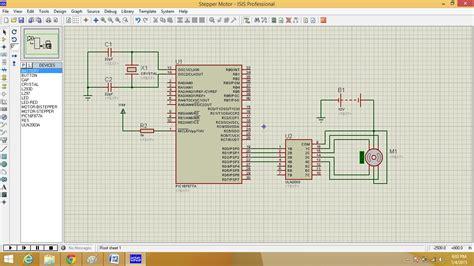 stepper motor interfacing  picfa microcontroller