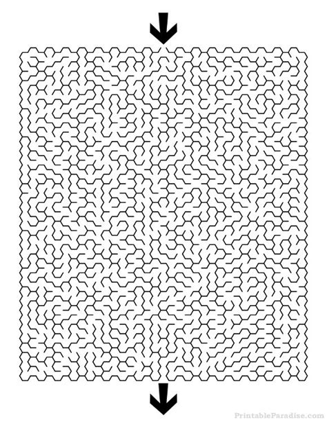 printable hexagon puzzle 8 best images about printable mazes on pinterest