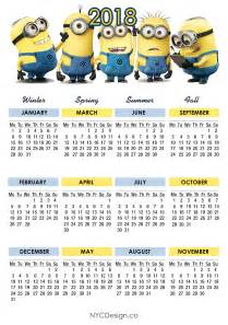 Calendar 2018 Qut New York Web Design Studio New York Ny Minions Calendar