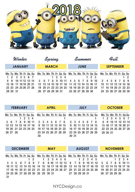 minion desk calendar 2018 2016 calendar printable 5 5 x 8 5 calendar template 2016