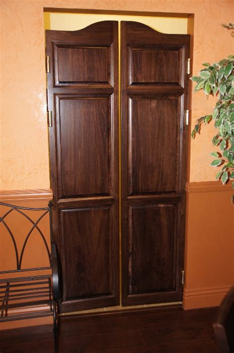Swinging Interior Door Custom Length Poplar Swinging Cafe Doors Saloon