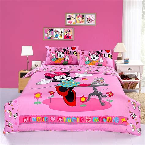 Minnie Bed Set Happy Pink Minnie Mouse Bedding Sets Disney Bedding Sets Bedding Sets