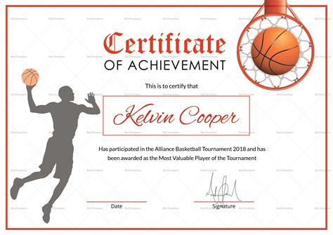 basketball c certificate template basketball certificate templates best professional