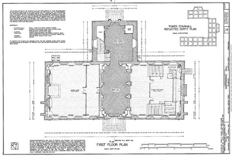 file architectural measured drawings showing the floor file habs measured drawing of the first floor of