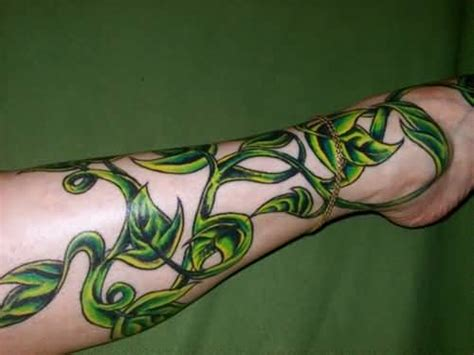vine leaf tattoo designs 10 plant tattoos for leg