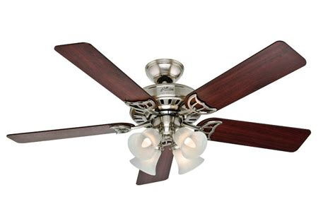 hunter duncan ceiling fan hunter the sontera 52 inch ceiling fan brushed nickel