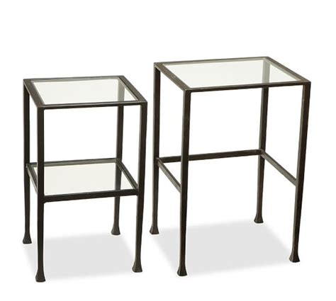 Nesting Tables Pottery Barn by Nesting Side Tables Bronze Finish Pottery Barn