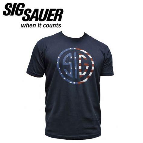 Kaost Shirt Sig Sauer Gun sig sauer t shirt with sig flag logo blue mgw