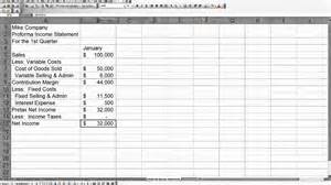 Pro Forma Projections Template by Mike Company Proforma Income Statement Mp4