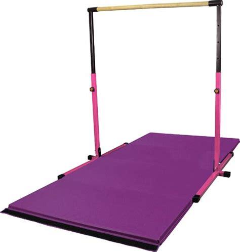 Gymnastics Bar And Mat Combo by Combo Pack Adj Pink Horizontal Bar With 8 Purple