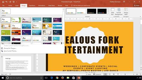 powerpoint design variants powerpoint 2016 learn how to change themes and variants
