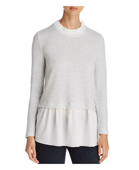 lunch lounge layered look top lyst