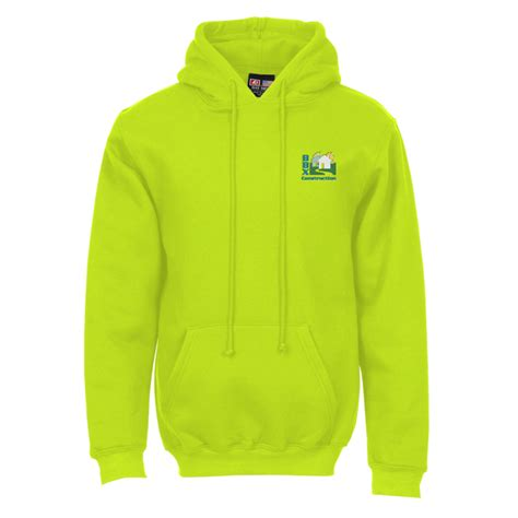 design your own logo hoodie lime green 4imprint com bayside usa made hoodie embroidered 117861