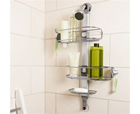 bathroom caddy ideas bathroom simplehuman adjustable stainless steel shower