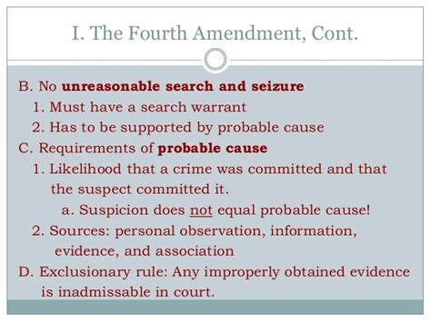 Illegal Search Warrant Fourth Amendment Notes