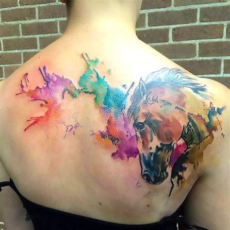 watercolor horse tattoo beautiful watercolor idea