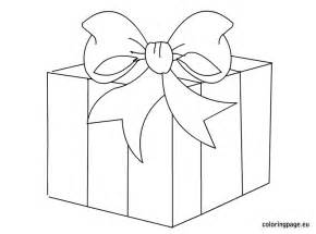 gift box clip art coloring page