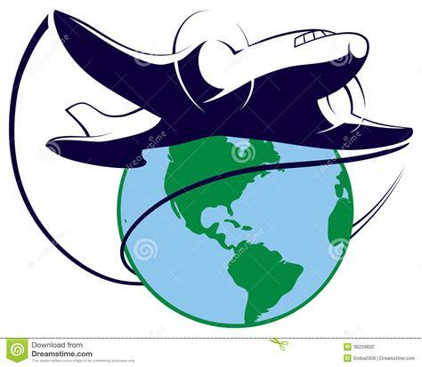 clipart viaggi logo di viaggio intorno al mondo illustrazione vettoriale