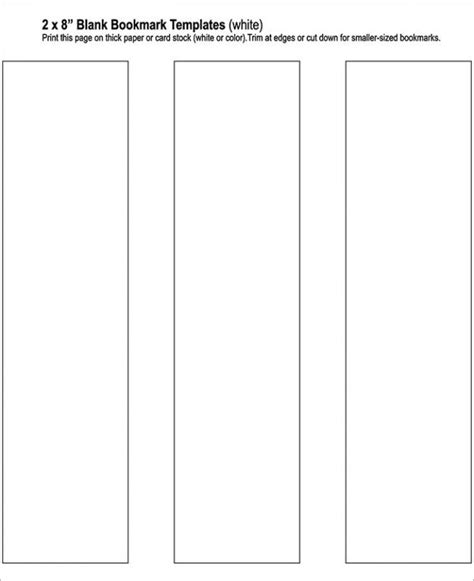 bookmark templates word blank bookmark template template business