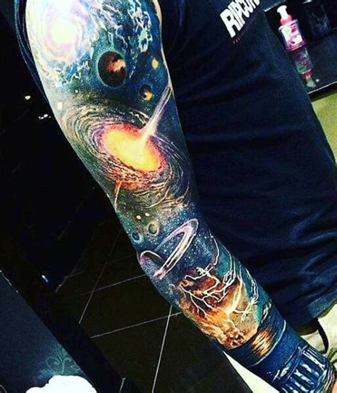 space sleeve tattoo designs 75 universe designs for tattoos