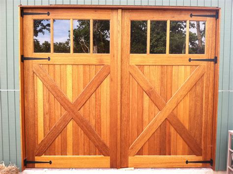 wooden swing doors classic pine wood unfinished garage with glass tops as