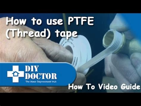 how to use ptfe thread seal