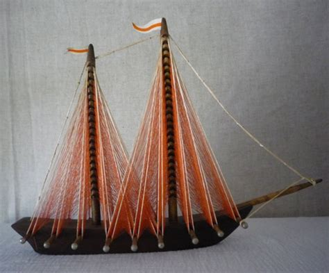String Sailboat - string sailboat sailing ship model nautical