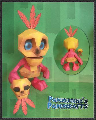 Banjo Kazooie Papercraft - mumbo jumbo papercraftsquare free papercraft