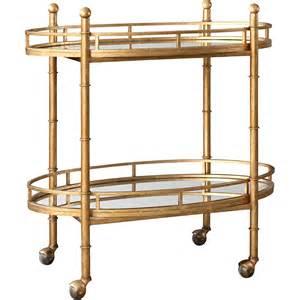 Bar Cart Gold Normandy Bar Cart