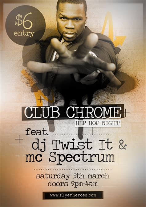 Free Hip Hop Flyer Templates clubchrome free hip hop flyer template