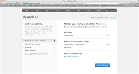 apple email how to change the email address associated with your
