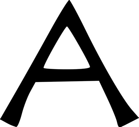 letter a 183 free vector graphic on pixabay