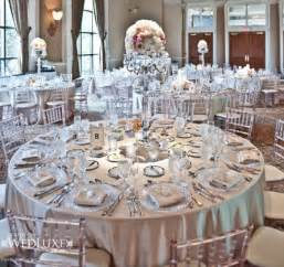 theme wedding reception table ideas silver wedding theme archives weddings romantique