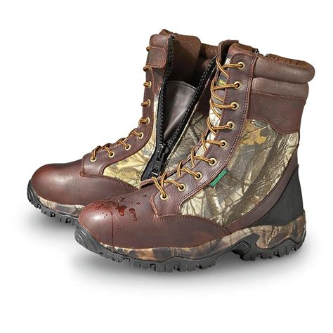 guide gear mens sports hunting boots 1200 gram men s 9 quot guide gear 174 waterproof 1 000 gram thinsulate