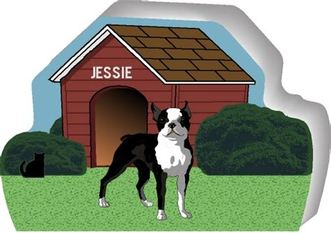 Dog House Boston Terrier Purrsonalize Me The Cat S Meow Village