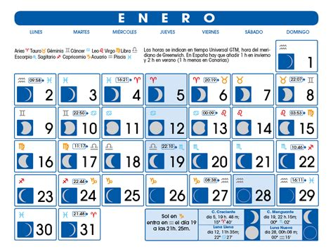 Calendario Lunar Febrero 2017 Calendario Lunar Enero De 2017