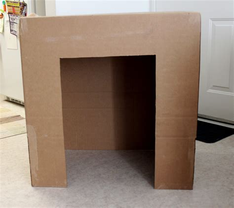 How To Make A Cardboard Fireplace For by Cation Designs Diy Cardboard Faux Fireplace