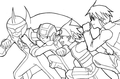 Mega X Sketches by Mega Bosses Concept Coloring Pages