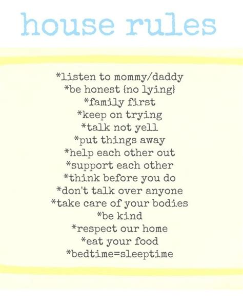 Printable House Rules | printable house rules via pancakesandpatience 8 by