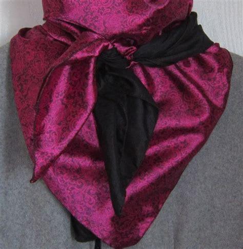 pink and black rag buckaroo rag cowboy scarf