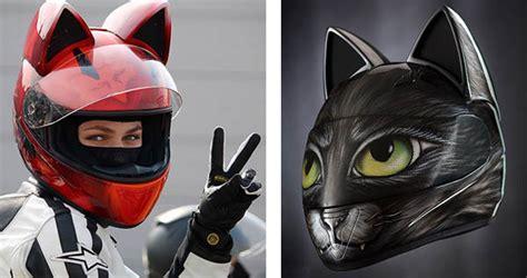 Motorradhelm Panda by We Re All Ears For The Neko Cat Ears Motorcycle Helmet