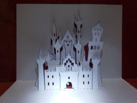 pop up card castle template neuschwanstein castle popup card popup cards kirigami