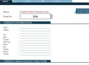 Employee Database Excel Template Baskan Idai Co Employee Database Excel Template
