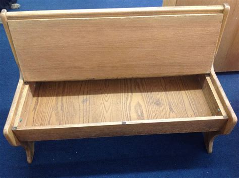 vintage storage bench seat lot detail vintage wooden church bench with lift seat