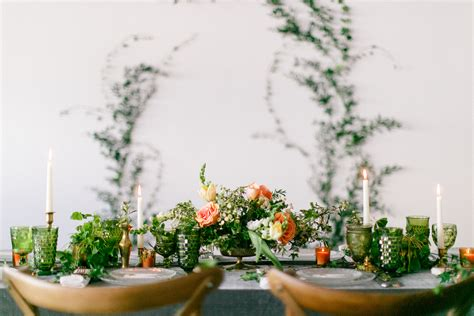 the greenery wedding package greenery pantone color of the year styled shoot