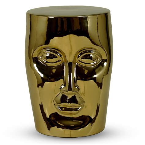 Gold Ceramic Stool by Donnell Gold Ceramic Garden Stool City Decor