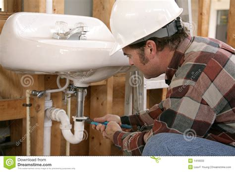 Contractor Plumbing by Construction Plumbing Work Stock Image Image Of Education